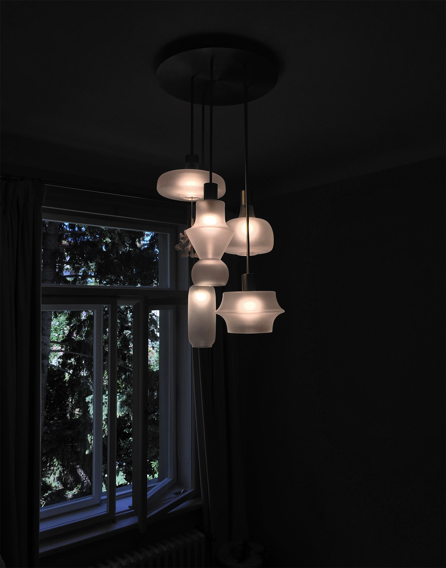 helena lighting object chandelier site specific residence prague jiri krejcirik rony plesl studio 4