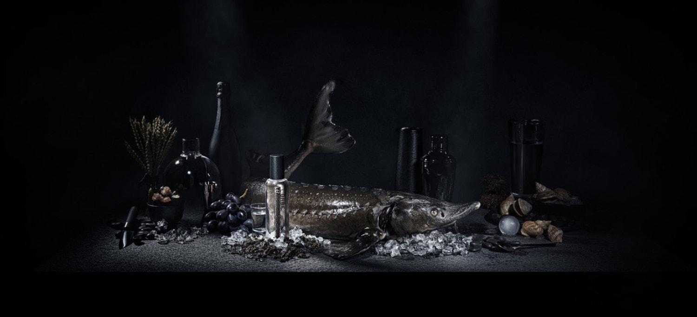 Lorbe glass bottle pernod ricard exclusive alcohol spirit caviar vodka infused drink michelin gastronomy jiri krejcirik