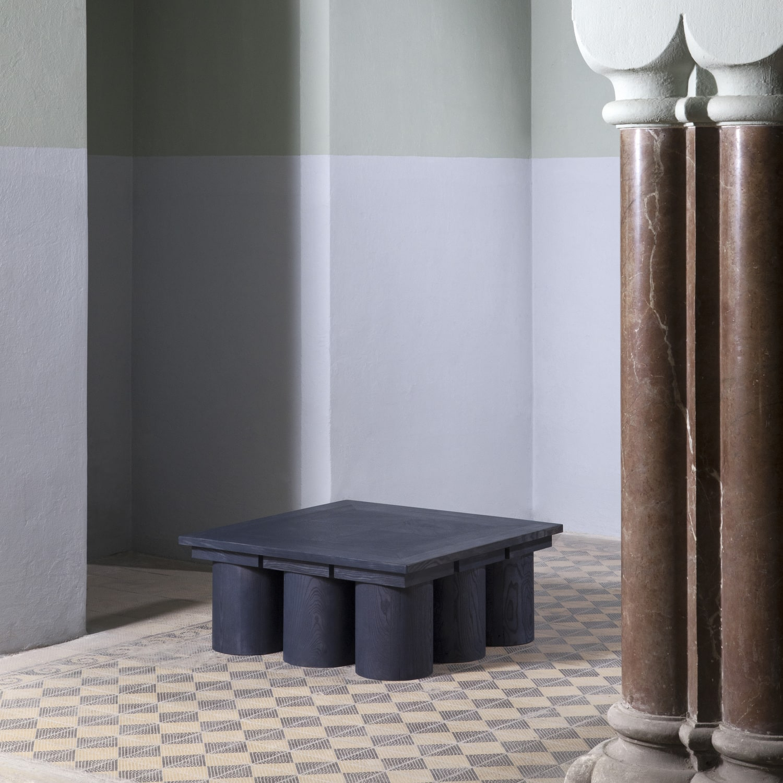 veltrusy mansion sculptural low table reclaimed wood furniture collectibles artcollector gallery art object artproject design jiri krejcirik